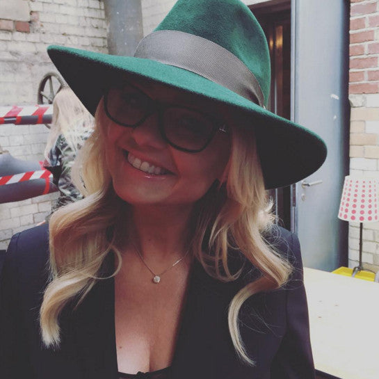Inca Emerald Fedora | Worn by Emma Bunton in the Ab Fab Movie!!