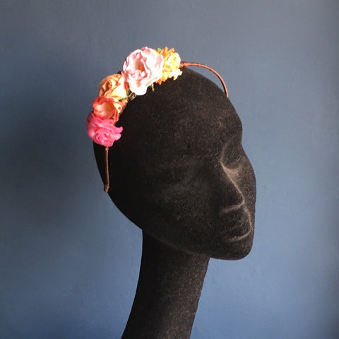 Paper flower hairband | Kate Braithwaite Millinery