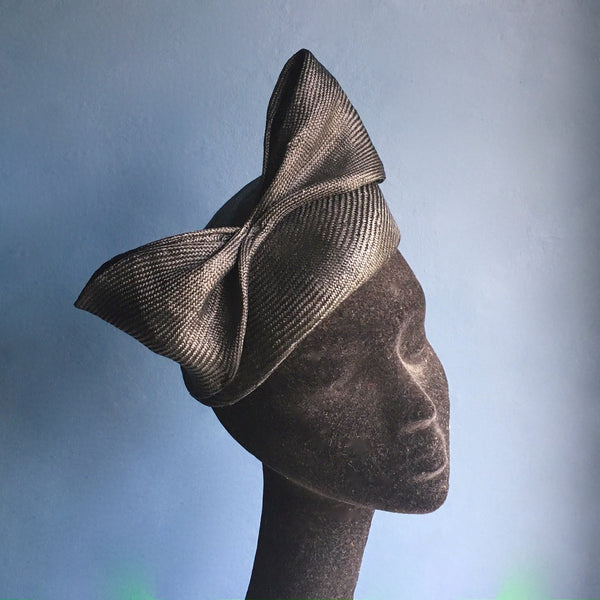 Black Bow Hat | Kate Braithwaite Millinery