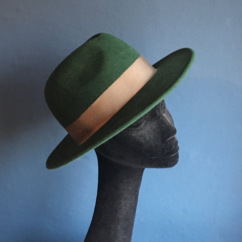 Emerald Green Fedora| AW17| KB Millinery