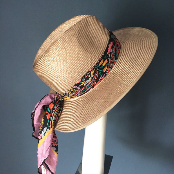 MEXICA CHAMPAGNE FEDORA WITH SILK