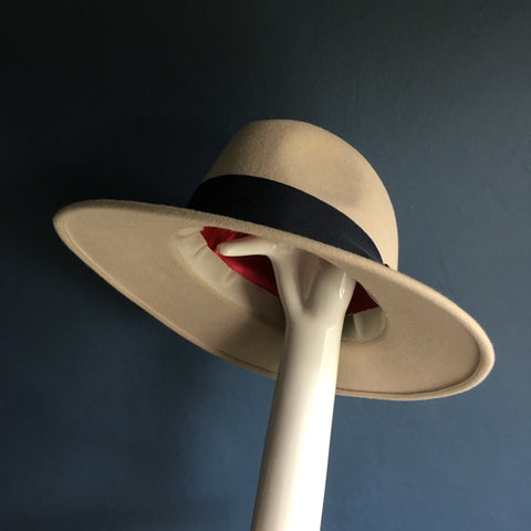 Alabaster White Fedora | Side Shot | Kate B Millinery