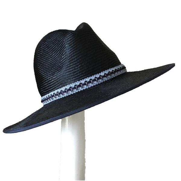 MEXICA NAVY STRAW FEDORA