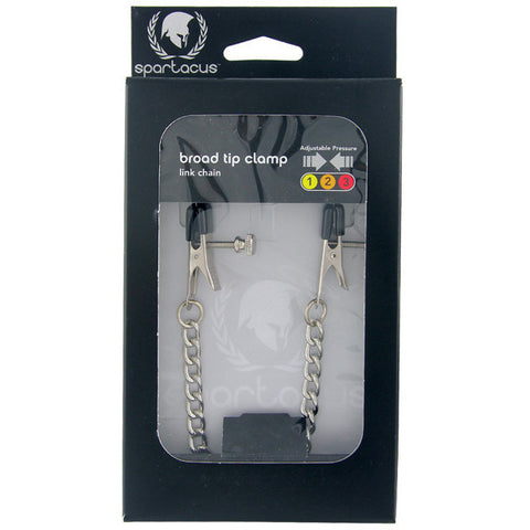Adjustable Broad Tip Nipple Clamps W-link Chain