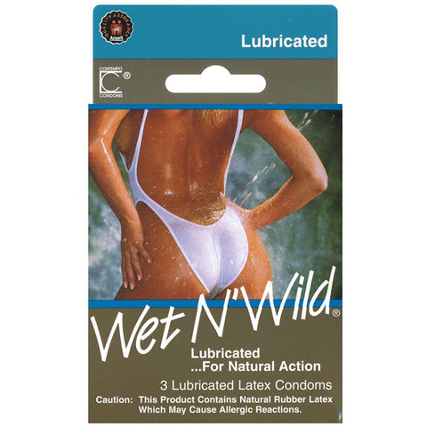 Contempo Wet & Wild Condom - Box Of 3