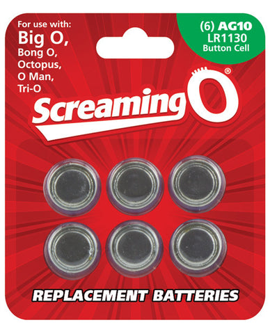 Screaming O Ag10 Batteries - Sheet Of 6 (big O,octo,bongo,trio,oman,bango)
