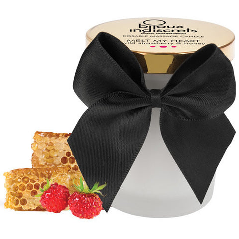 Bijoux Indiscrets Melt My Heart Massage Candle - Wild Strawberry