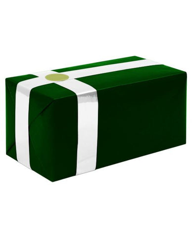Gift Wrapping For Your Purchase (forest Green W-white Ribbon)-extra Day To Ship