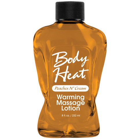 Body Heat Lotion - 8 Oz Peach & Cream