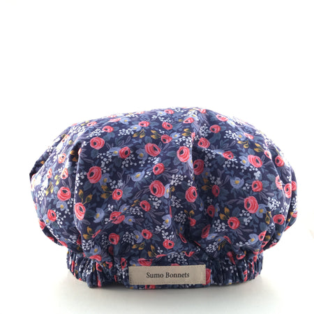 Crimson 'Madame Butterfly' Satin Sleep Bonnet