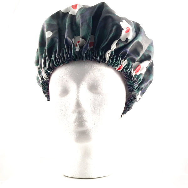 'Ava' Daisy Print XL Shower Bonnet