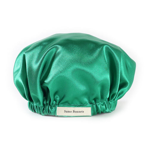 Kelly Green Satin Sleep Bonnet
