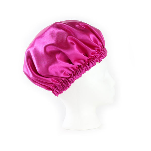 Berry Satin Sleep Bonnet