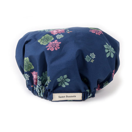 'Misty' Multi-colored Floral Satin Sleep Bonnet