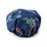 Midnight Blue Succulent Print Bonnet: Back