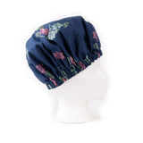 Midnight Blue Succulent Print Bonnet: Right Side