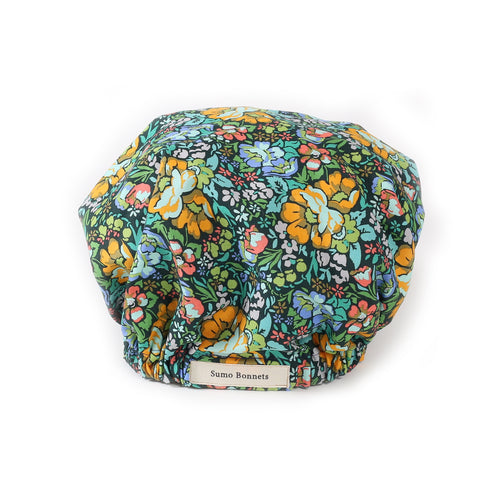 'Cortez' Jade Floral Satin Sleep Bonnet