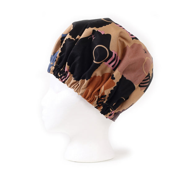 'Dahlia' Satin Sleep Bonnet in Chai Latte