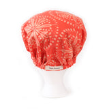 'Maxine' Satin Sleep Bonnet in Coral