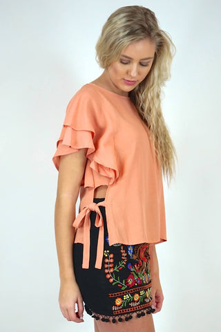 Amberlyn Ruffle Sleeve Top