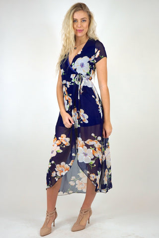 Gracie Wrap Long Dress Outfit
