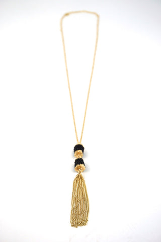 Ballantine Black Druzy Necklace