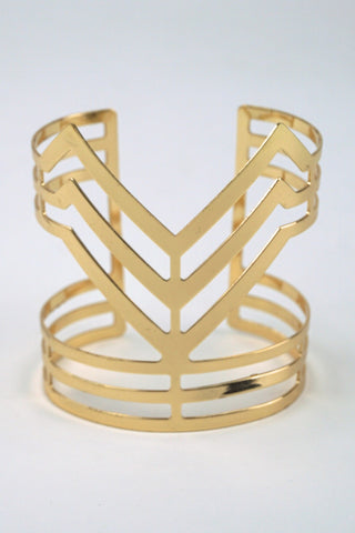 Alia Modern Boutique Cutout Gold Cuff