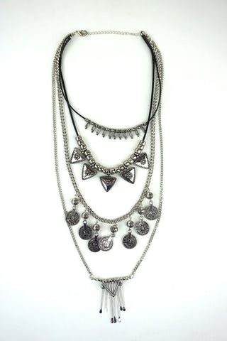 Kalyn Layered Metal Charm Necklace