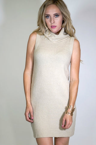 Corey Cowl Neck Sweater Knit Dress