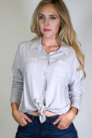 Dina Tie Front Button Down