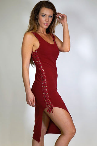 Sabrina Lace Up Body Con Dress