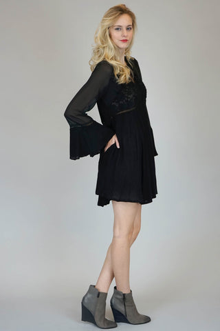 Dark Romance Bell Sleeve Dress