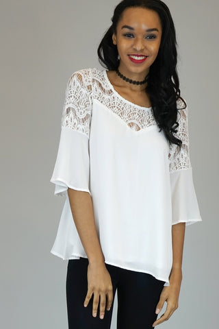 Calista Black or White Lace Top