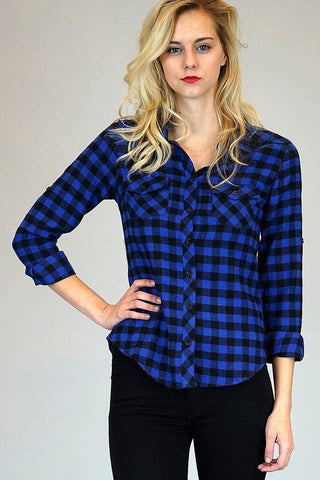 Blue Buffalo Plaid Button Down Flannel