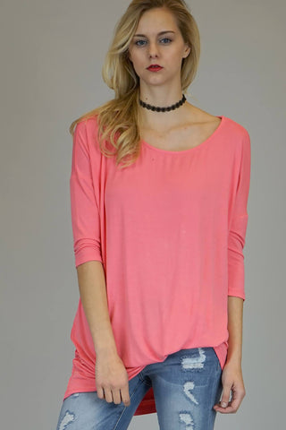 Mittoshop Bamboo Bat Wing Tunic Top In Blossom