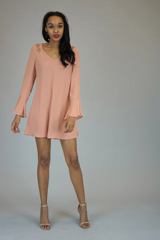 Serenity Bell Sleeve Shift Dress