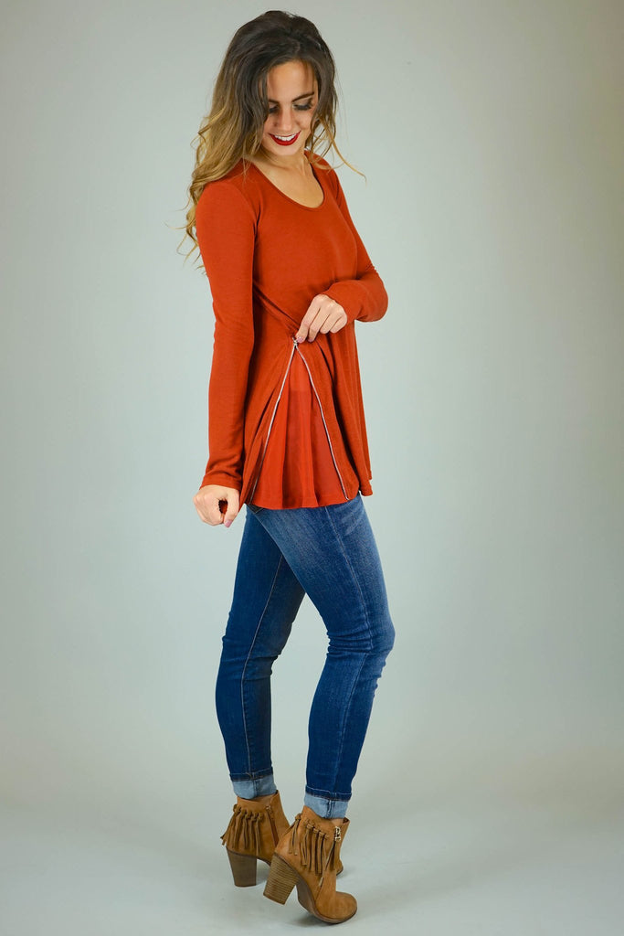 Betty Zippered Top