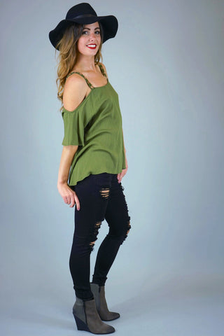 Addison Olive Clothing Top