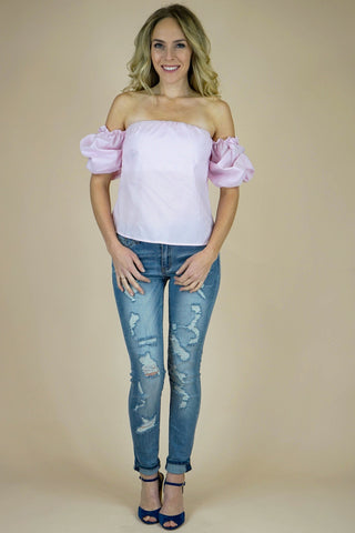 Gwendolyn Pink Lady Top