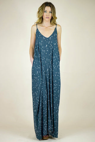 Aria Skies are Blue Print Cocoon Maxi Dress