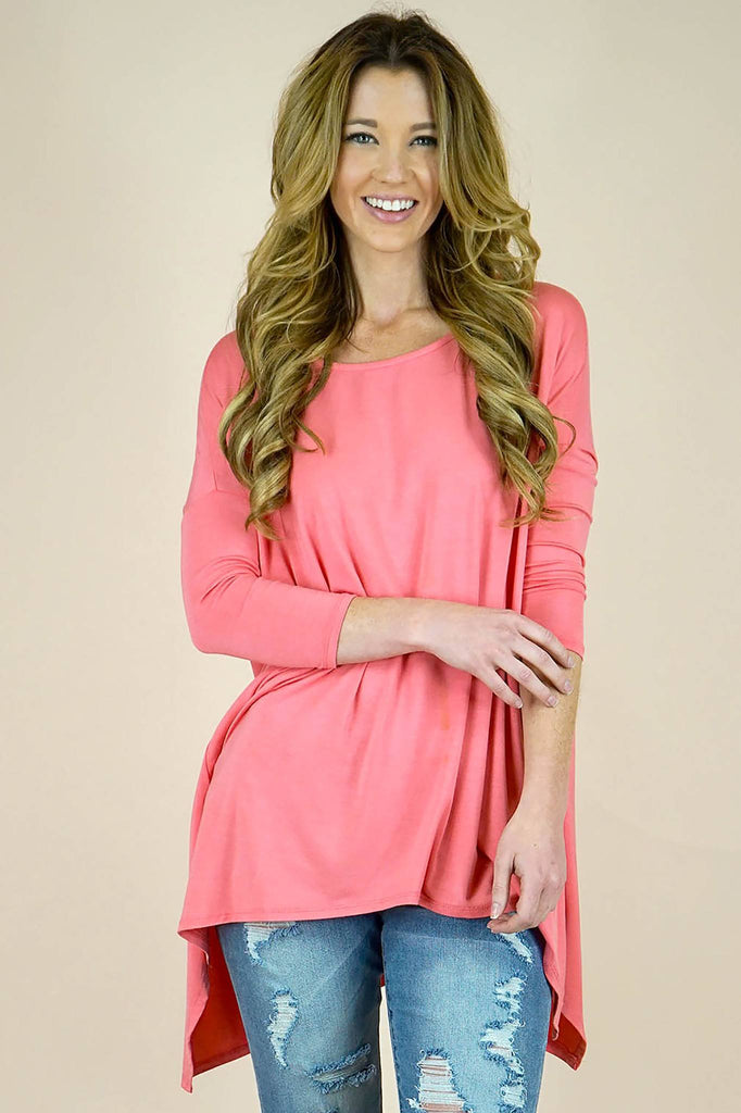 Blossom Bamboo Fabric Dropped Shoulder Sleeve Top