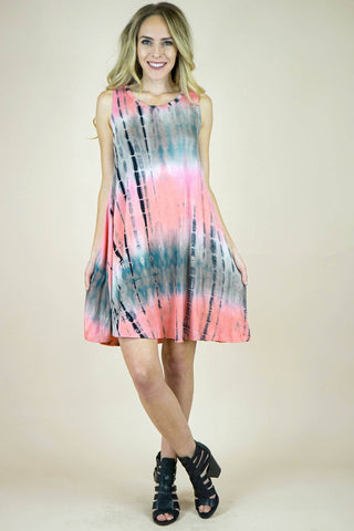 Umgee Festival Ready Sleeveless Tie Dye Dress