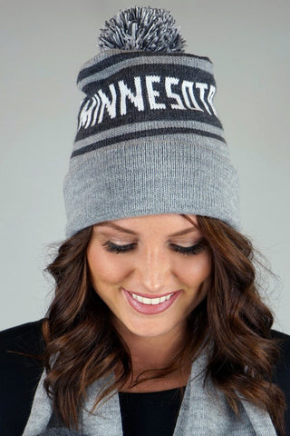 Knit Minnesota Beanie with Pom