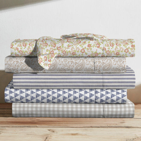 Brielle Home Printed Cotton Sheet Set