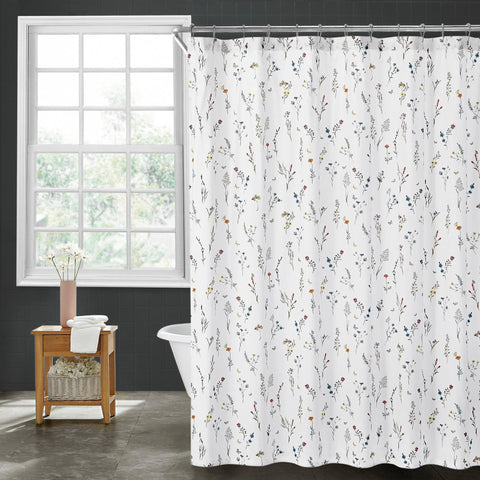 Brielle Home Sophie 100% Cotton Shower Curtain