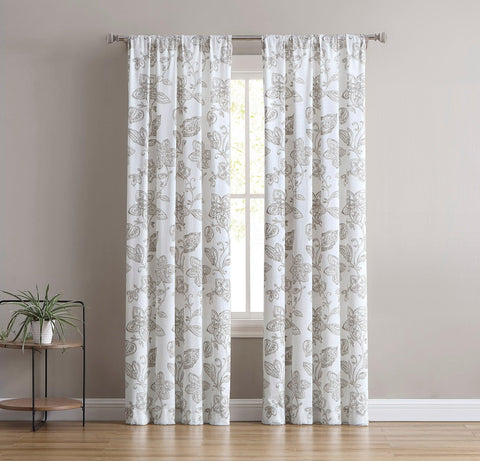 Brielle Home Calera Cotton Window Curtain Panel