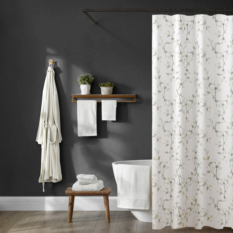 Brielle Home Everly 100% Cotton Shower Curtain