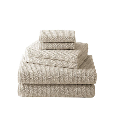 Brielle Home Grayson 6-Piece Textured Turkish Cotton Towel Set