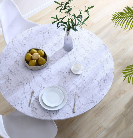 Brielle Home Round Table Cover Lifestyle Angle Marble
