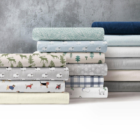 Brielle Home 100% Cotton Flannel Sheet Set